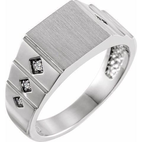 Geometric Signet Men's Ring