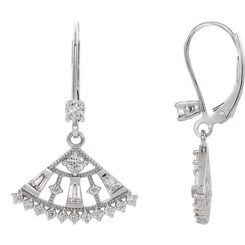 Accented Lever Back Earrings