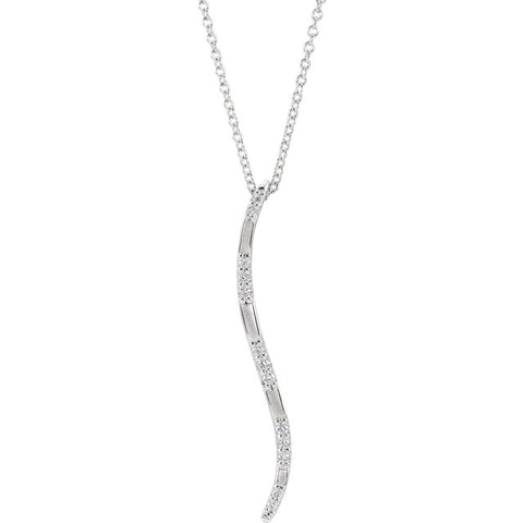 Freeform Vertical Bar Necklace