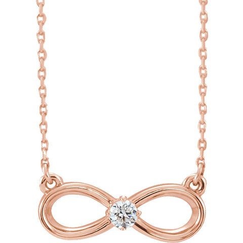 Gold & Diamond Infinity-Inspired Necklace
