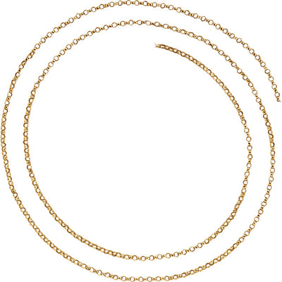 14K Gold Belcher Rolo Chain 1.5mm