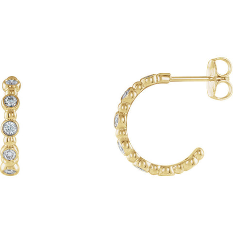 Accented Beaded Hoop Earrings