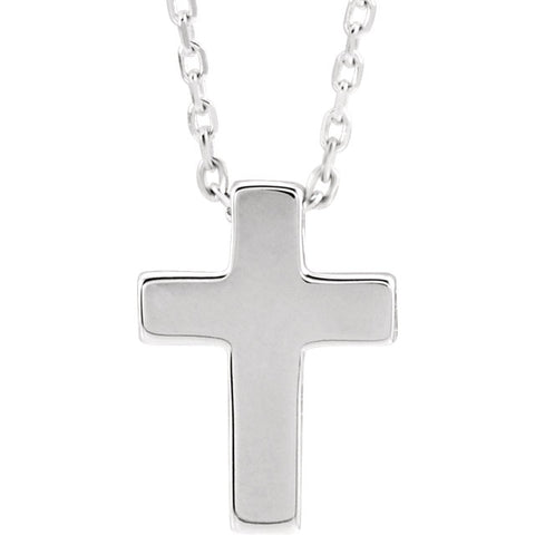 14K Gold Petite Cross Pendant or Necklace