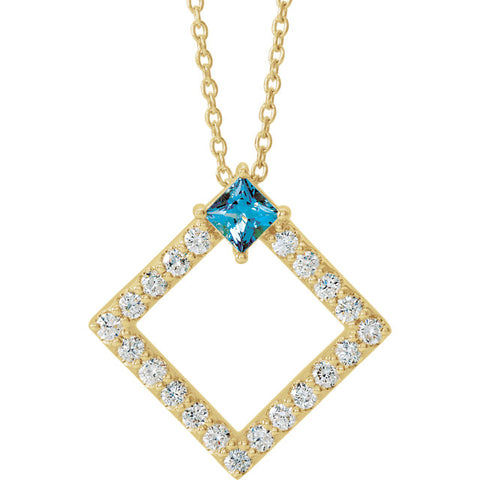 Accented Geometric Necklace or Pendant