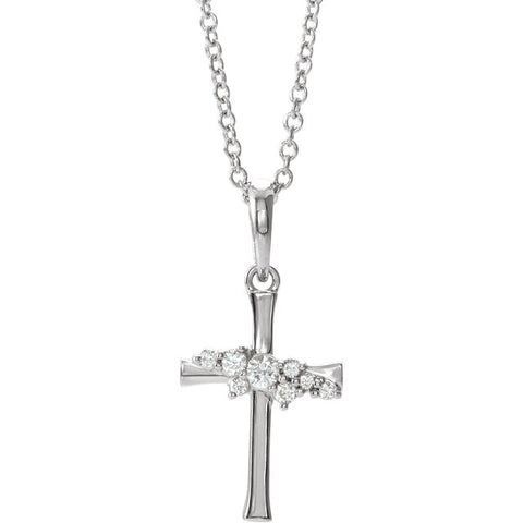 Cross Cluster Necklace or Pendant