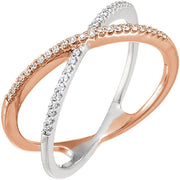 Accented Criss-Cross Ring