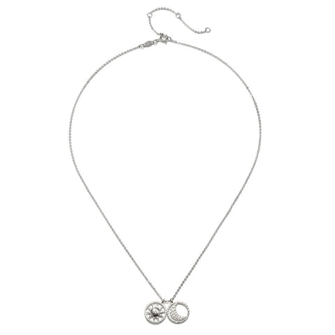Sun and Moon Silver Necklace - Satya