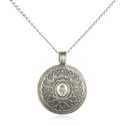 Hamsa Mandala Necklace - Divine Protection - Designed by Satya
