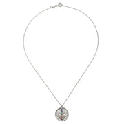 Multi Gemstone Sterling Silver Lotus Chakra Necklace - designed by Satya