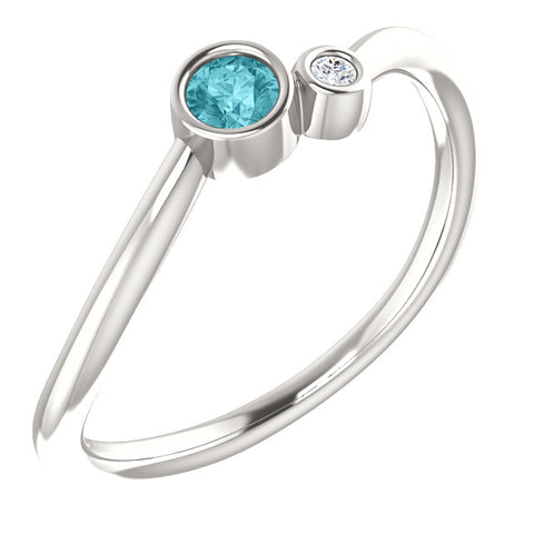 Two-Stone Bezel-Set Ring