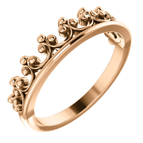 14K Gold Stackable Crown Ring