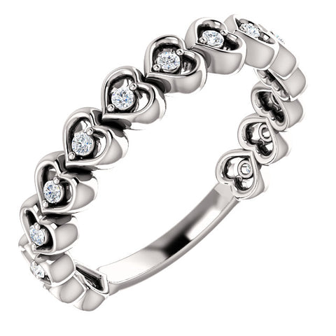 Accented Heart Anniversary Band
