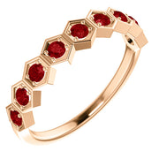 Gold & Gemstone Geometric Stackable Ring