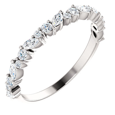 14K Gold Diamond Anniversary Band