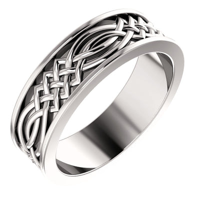 14K Gold Celtic-Inspired Band -Aurumluxe