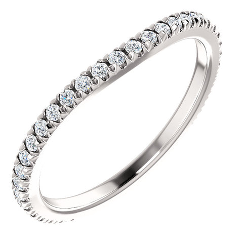 14K White Gold Halo-Style Engagement Band