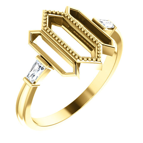 Geometric Ring - 14K Gold