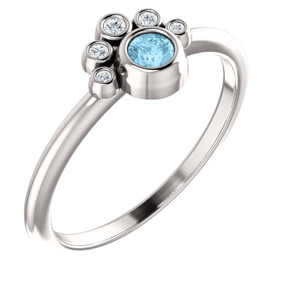 Dreamcatcher Gemstone & Diamond Stackable Ring