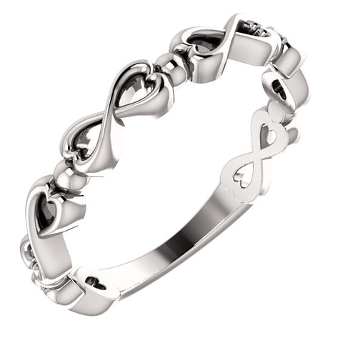 Infinity-Inspired Heart Ring