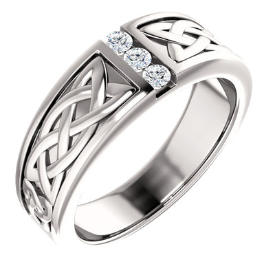 Channel-Set Men's Ring