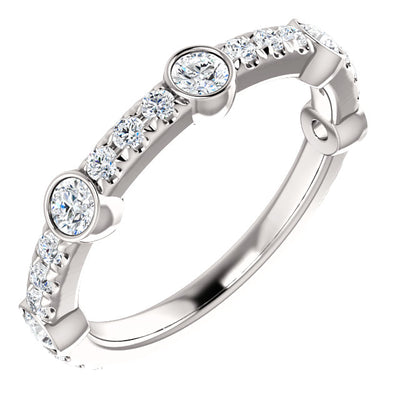 14K Gold 3/4 CTW Diamond French-Set Anniversary Band