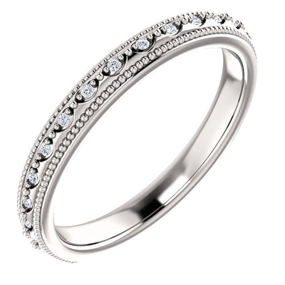 14K Gold and Diamond Anniversary Band