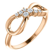 14K Gold 1/8 CTW Diamond Infinity-Inspired Ring