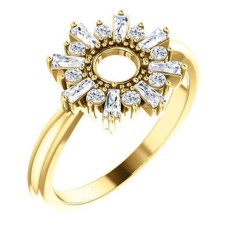 Gold & 3/8 CTW Diamond Circle Ring