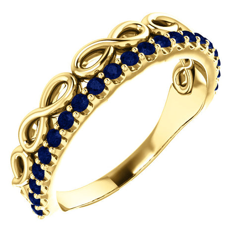 Gold & Gemstones Infinity-Inspired Stackable Ring