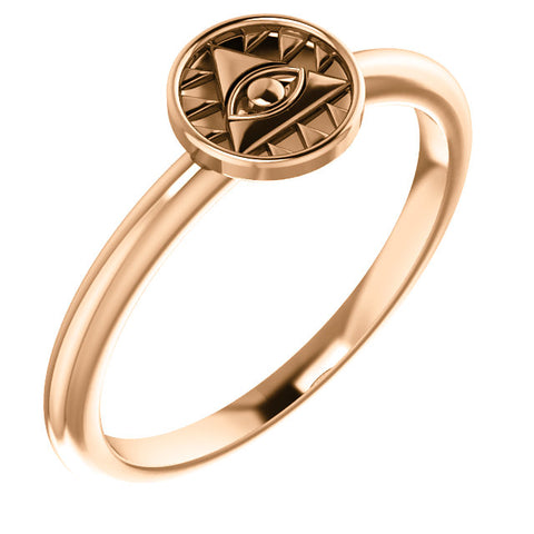 Eye of Providence Stackable Ring