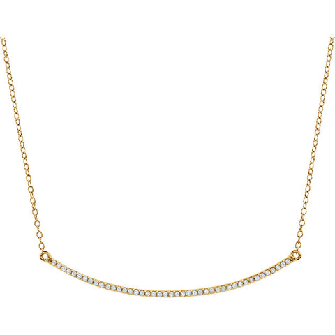Gold and Gemstone Bar Necklace