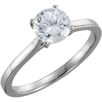 14K White Gold 1 CTW Diamond Solitaire Engagement Ring