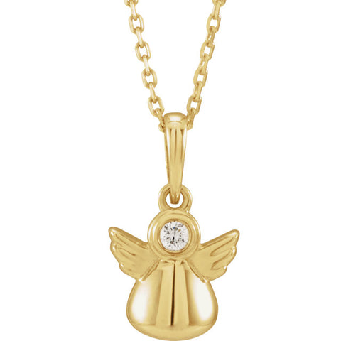 Youth Angel 14K Gold & Diamond Necklace