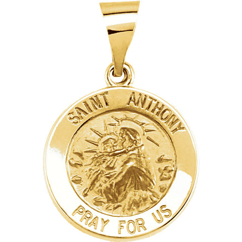 Hollow St. Anthony Medal