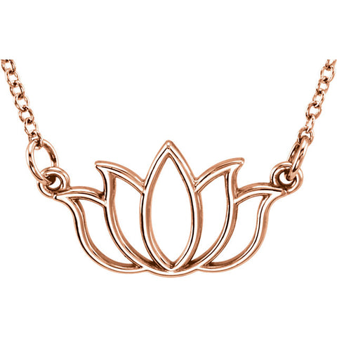 Tiny Posh® Lotus Necklace