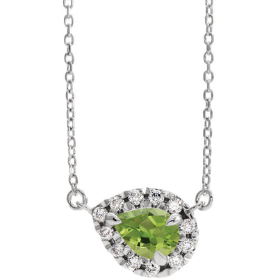 French-Set Halo-Style Necklace