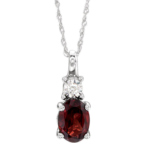 14K White Gold & Gemstone & Diamond Necklace