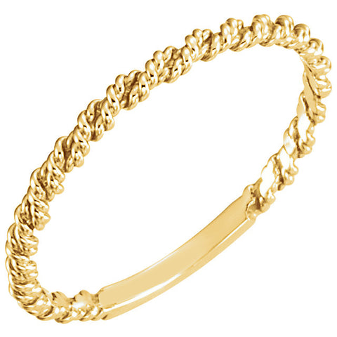 Gold Twisted Rope Band