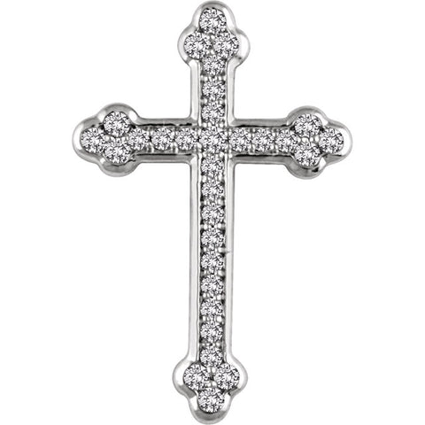 14K Gold 1/3 CTW Diamond Cross Pendant