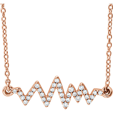 Heartbeat Diamond Necklace