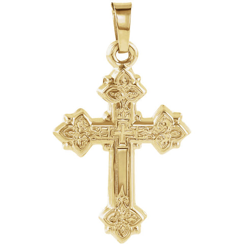 Hollow Design Cross Pendant
