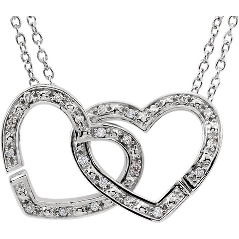 2-in-1 Interlocking Heart Necklace
