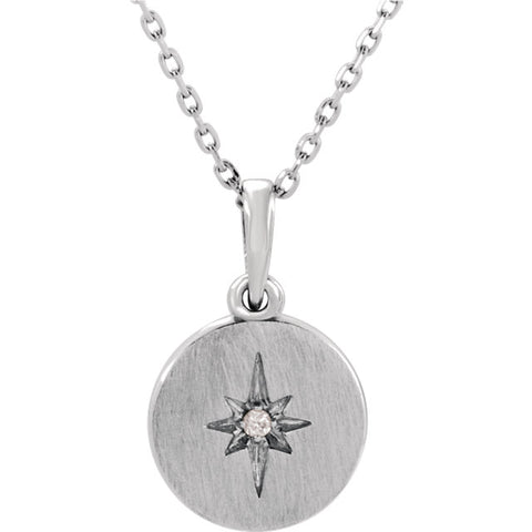 Accented Starburst Necklace  Diamond Starburst