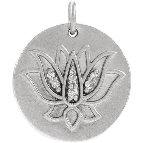 Lotus Necklace or Pendant