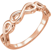 14K Gold Stackable Infinity-Inspired Ring