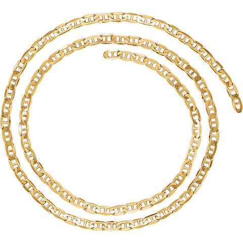 14K Yellow Gold  4.5mm Anchor Chain