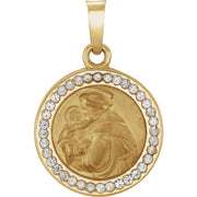 14K Gold St. Anthony Medal