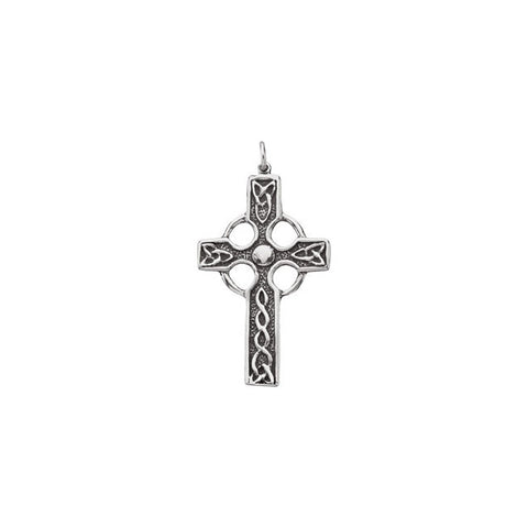 Sterling Silver Celtic-Inspired Cross Pendant