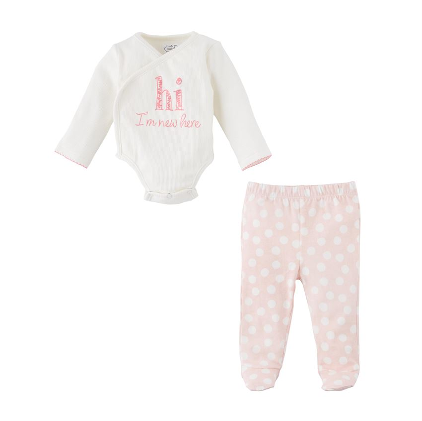PINK NEW HERE 2PC SET
