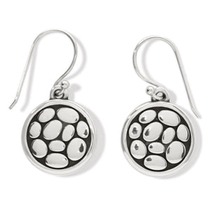 Pebble Round Reversible French WIRE EARRING